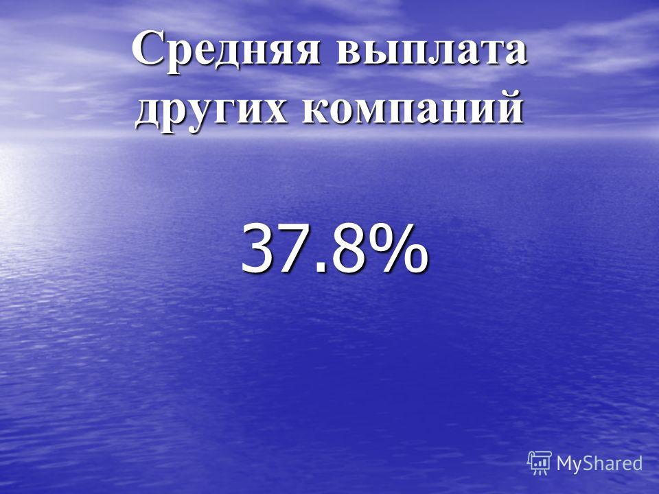 Средняя выплата других компаний 37.8%