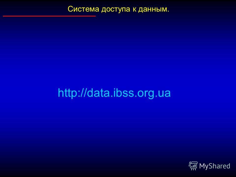 Система доступа к данным. http://data.ibss.org.ua