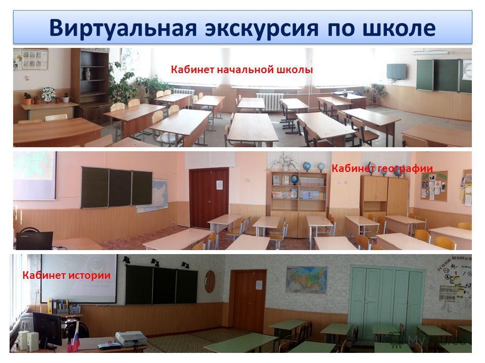 Виртуальная экскурсия по школе Кабинет начальной школы Кабинет географии Кабинет истории