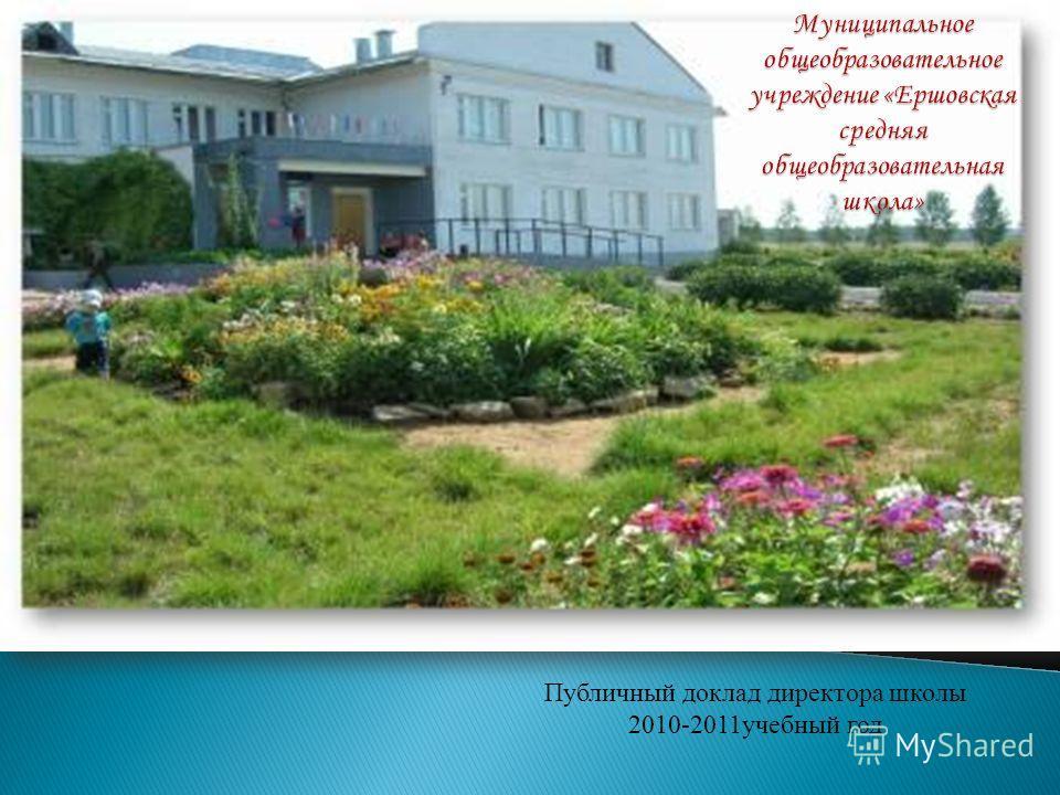 Публичный доклад директора школы 2010-2011учебный год