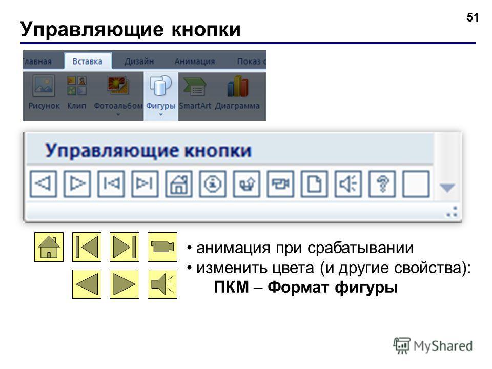 Действия (для выделенного объекта) 50 Стандартный или с диска Анимация при срабатывании