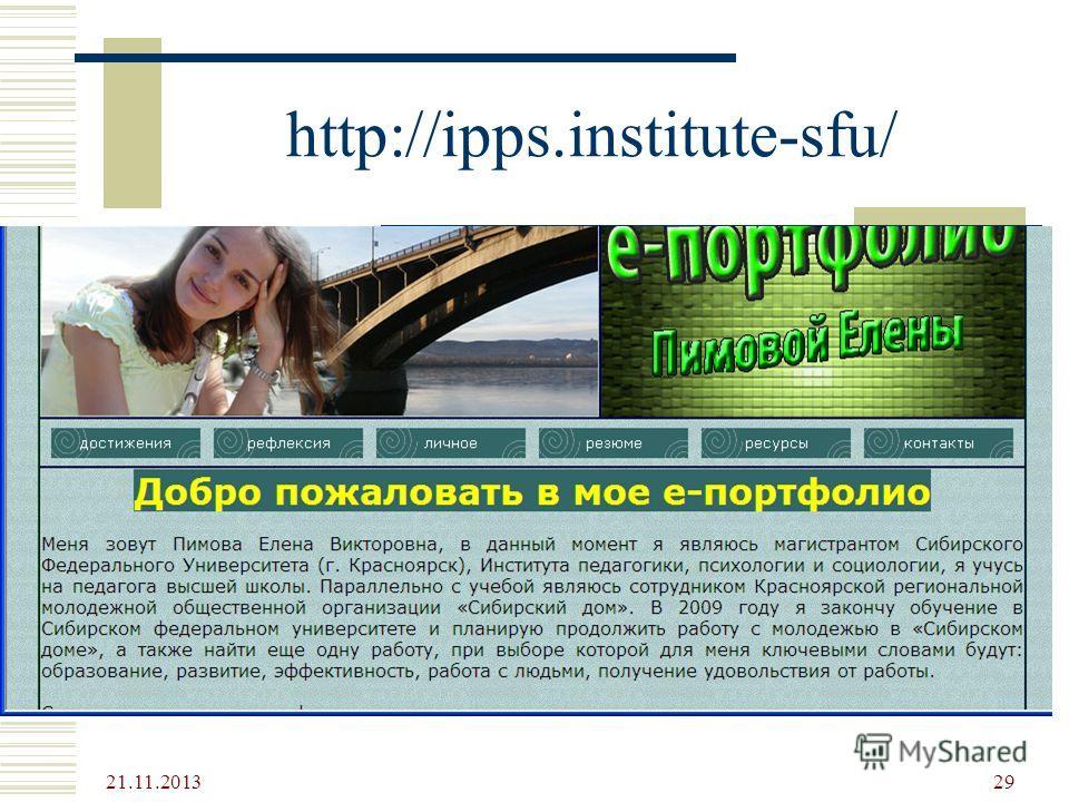http://ipps.institute-sfu/ 21.11.2013 29