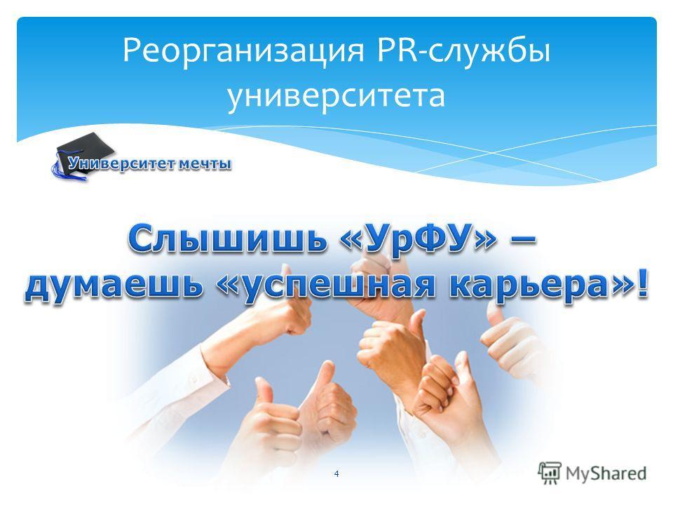 4 Реорганизация PR-службы университета