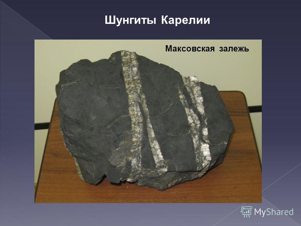 Максовская залежь Шунгиты Карелии
