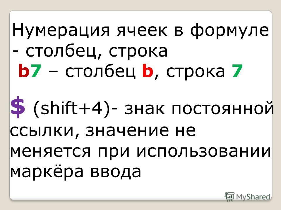 Формулы в excel вводятся в строку формул, На английском языке И обязательно после знака =