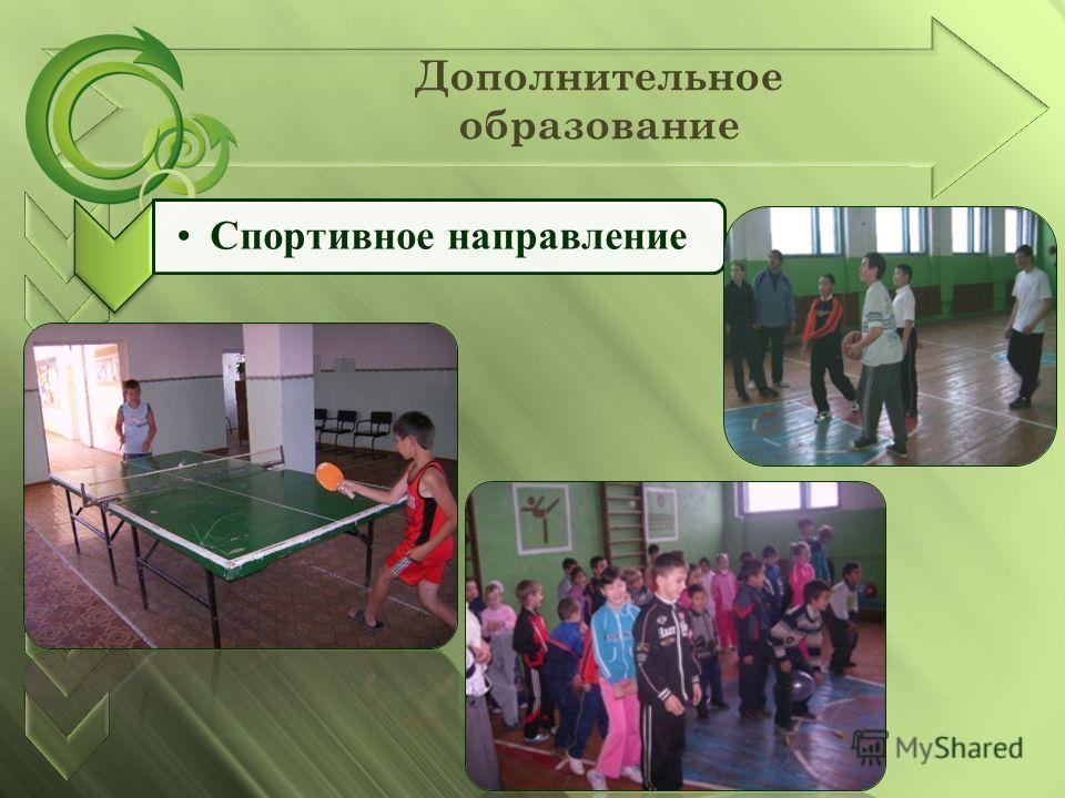 Дополнительное образование Спортивное направление
