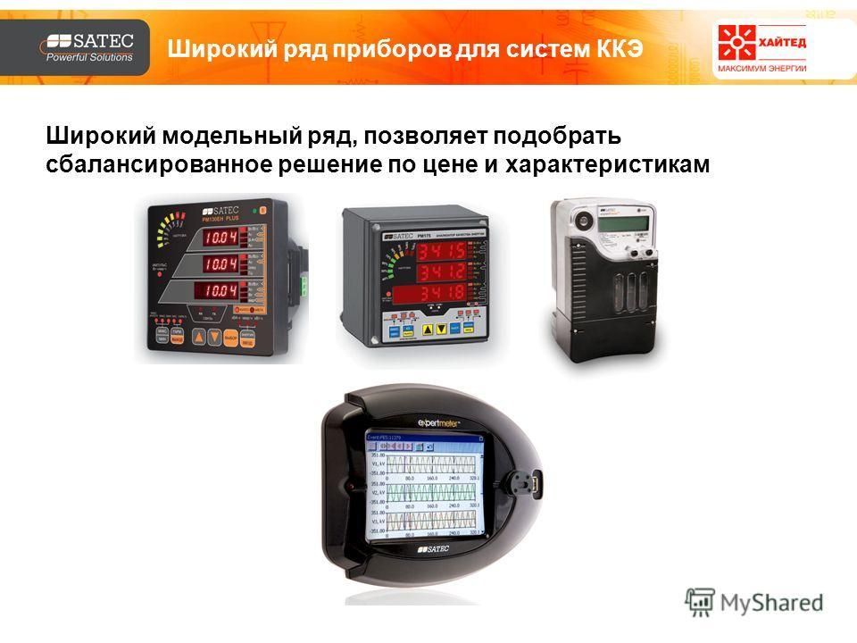 Широкий ряд приборов для систем ККЭ Широкий модельный ряд, позволяет подобрать сбалансированное решение по цене и характеристикам