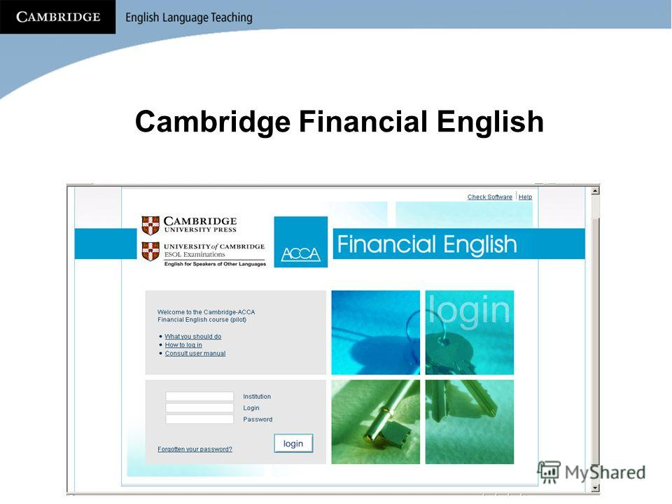 Cambridge Financial English