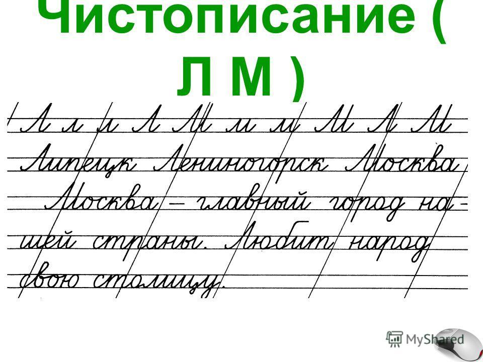 Чистописание ( Л М )
