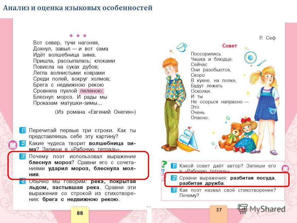 Анализ и оценка языковых особенностей