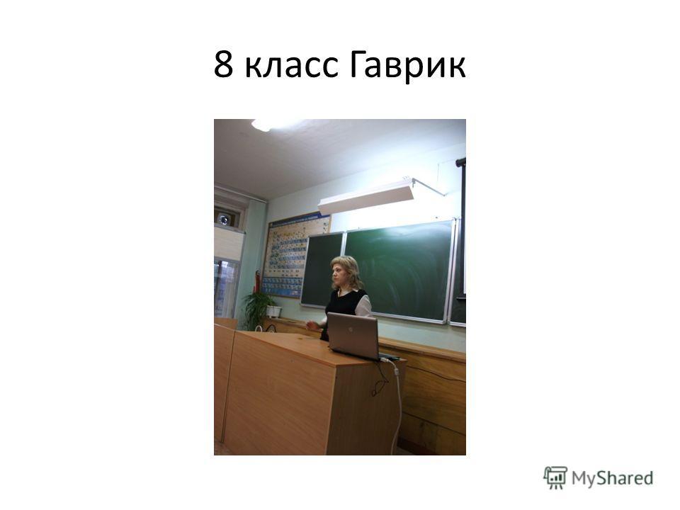 8 класс Гаврик