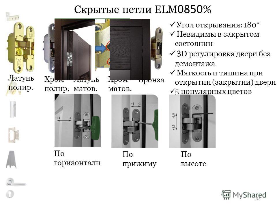 Скрытые петли ELM 0850 % Угол