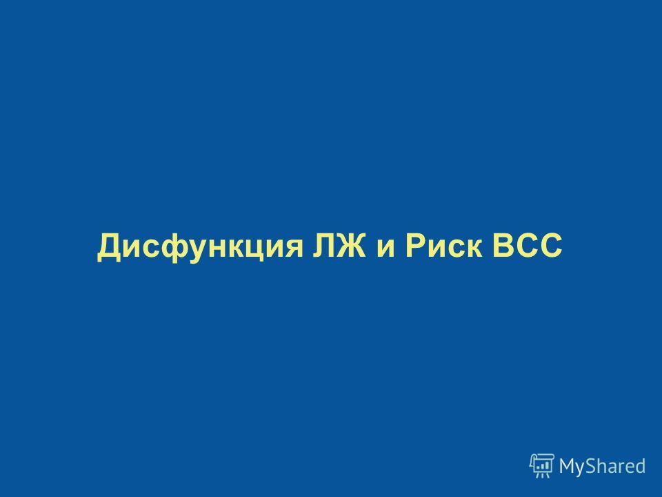 Дисфункция ЛЖ и Риск ВСС