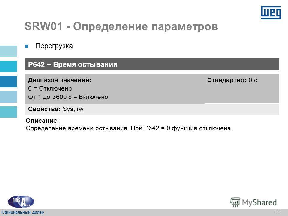 121 SRW01 - Определение параметров Перегрузка 01 SRW 1.15 определен как стандартный коэффициент условий эксплуатации согласно спецификации по перегрузке IEC 947-4-1 Чтобы определить время действия тепловой защиты для другого значения коэффициента усл