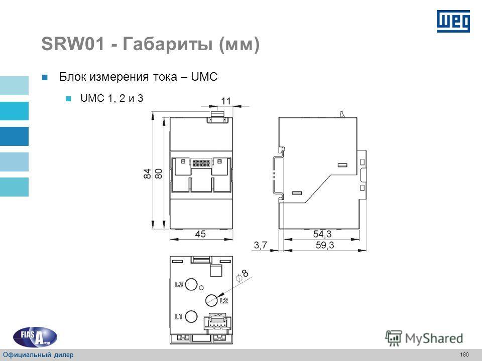 179 SRW01 – Габариты (мм) Блок управления – UC Официальный дилер