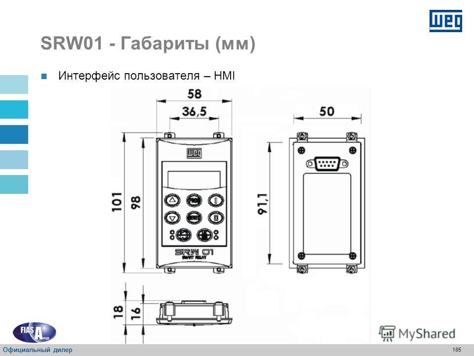 184 SRW01 - Габариты (мм) Блок измерения тока – UMC UMC 6 * * Без шины Официальный дилер
