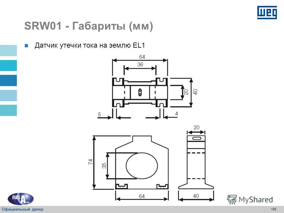 185 SRW01 - Габариты (мм) Интерфейс пользователя – HMI Официальный дилер