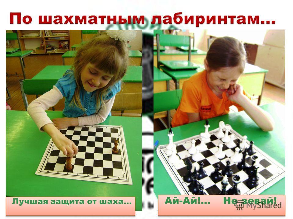 Лучшая защита от шаха… Ай-Ай!… Не зевай!