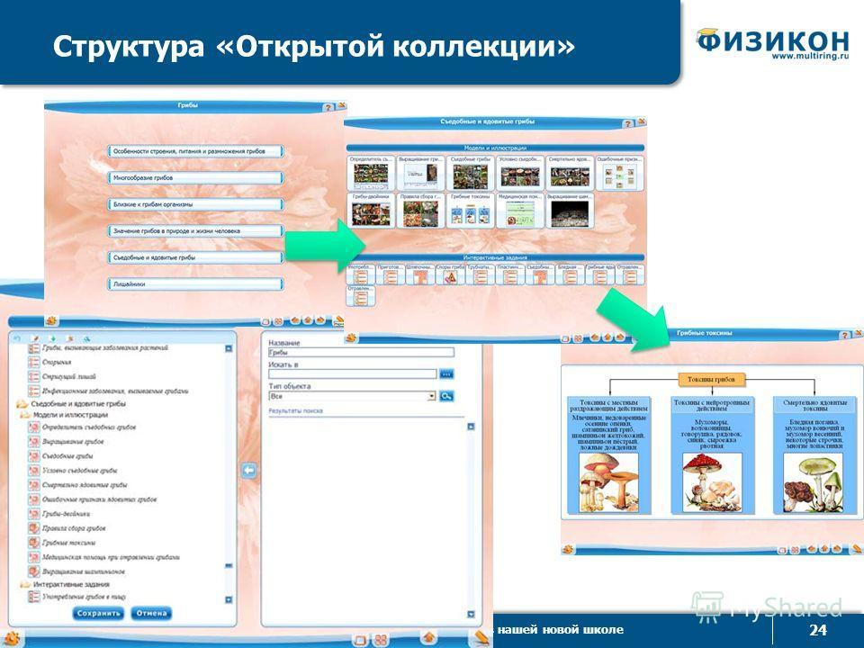 © ООО «ФИЗИКОН», 2013 24 Электронные образовательные ресурсы в нашей новой школе Структура «Открытой коллекции»