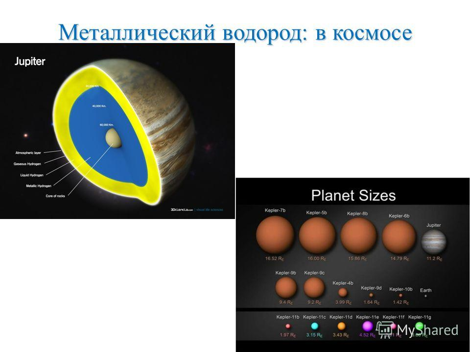 Металлический водород: в космосе