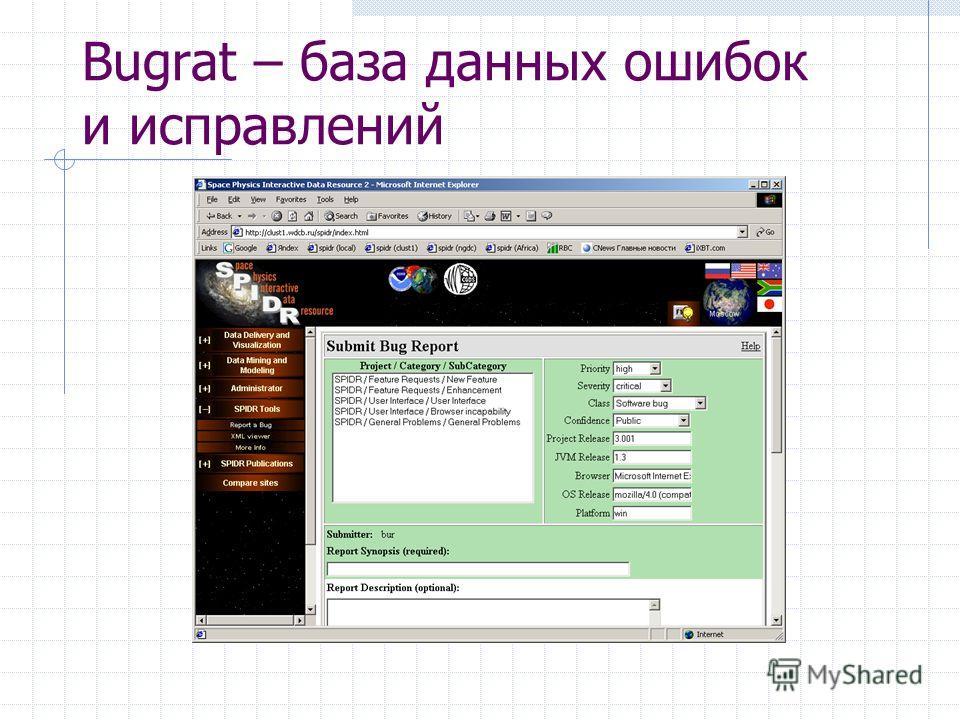 Bugrat – база данных ошибок и исправлений