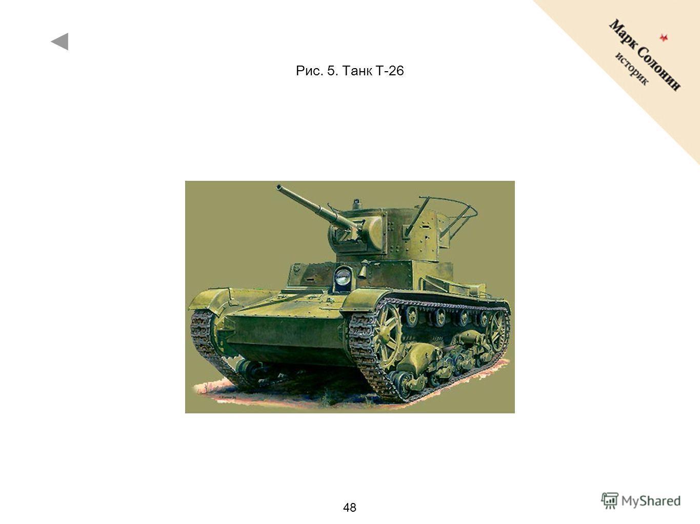 48 Рис. 5. Танк T-26