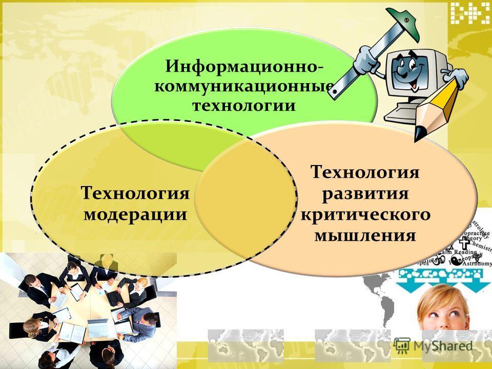 Информационно- коммуникационные технологии Технология развития критического мышления Технология модерации