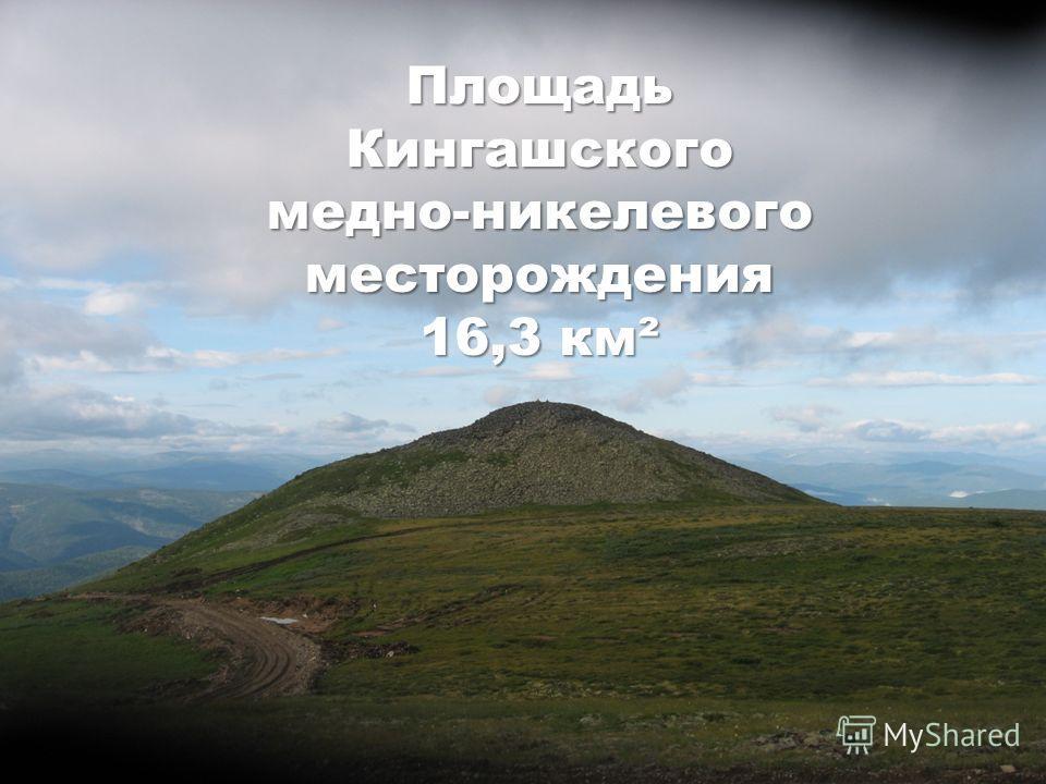 ПлощадьКингашского медно-никелевого месторождения 16,3 км²
