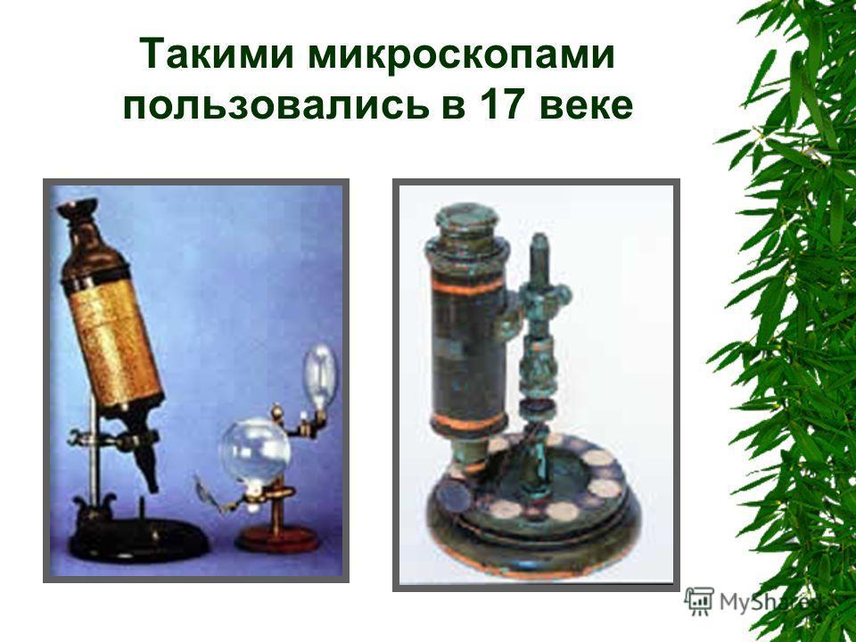 Такими микроскопами пользовались в 17 веке