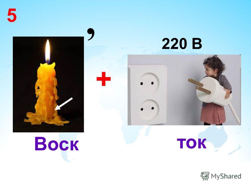 5, + 220 В Воск ток