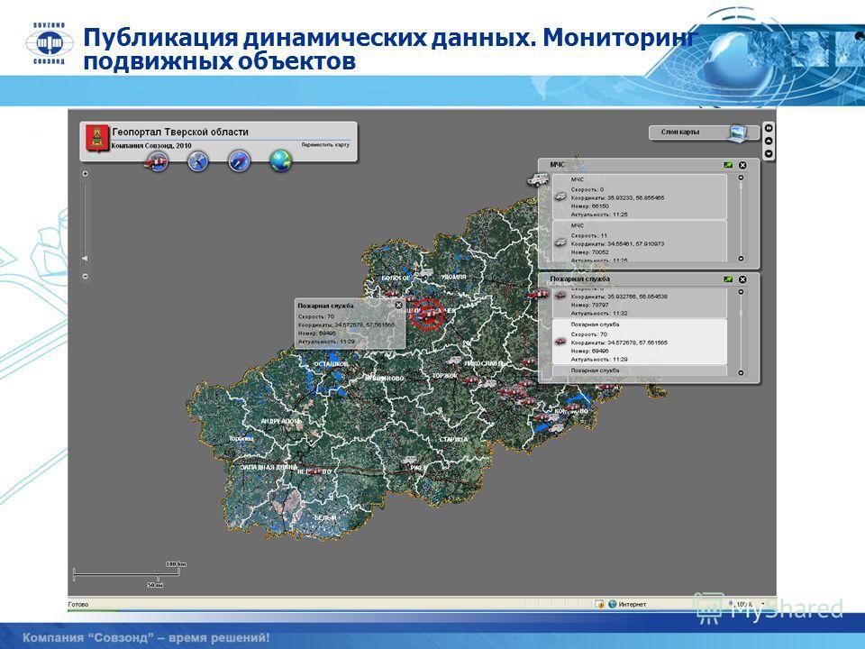 Публикация динамических данных. Мониторинг подвижных объектов