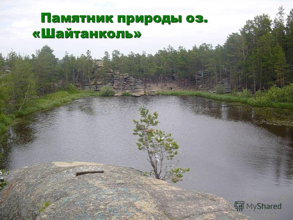 Памятник природы оз. «Шайтанколь» Памятник природы оз. «Шайтанколь»