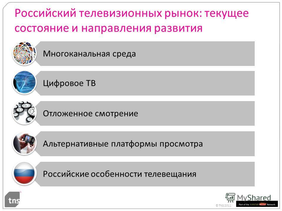 © TNS 2011 Российский телевизионных рынок: текущее состояние и направления развития