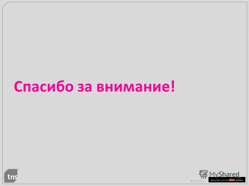 © TNS 2011 32 Спасибо за внимание!