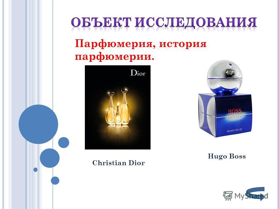 Hugo Boss Christian Dior Парфюмерия, история парфюмерии.