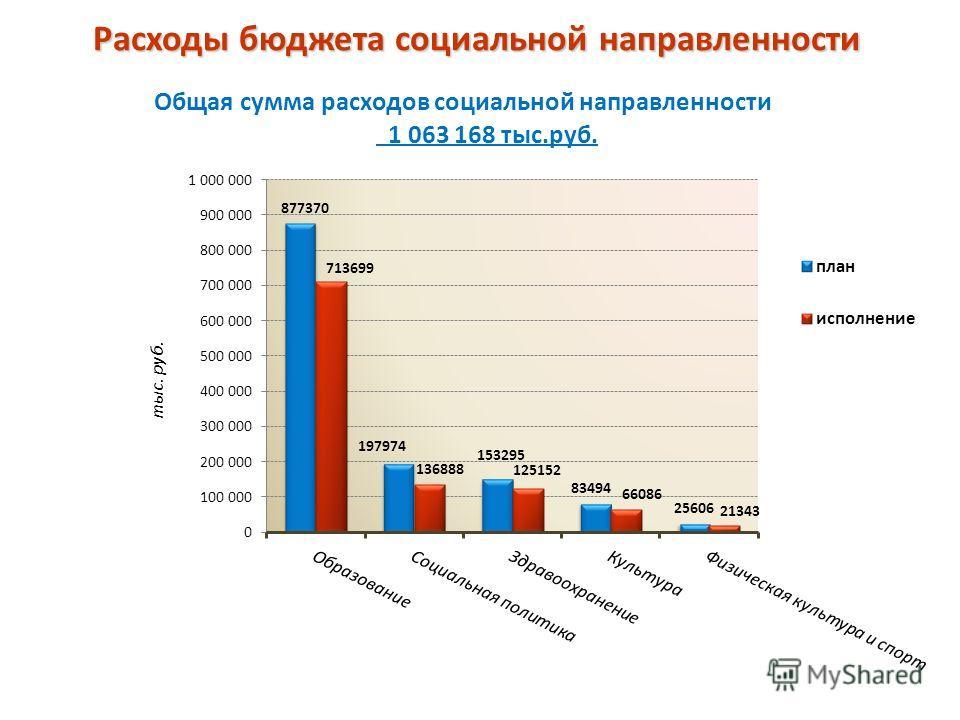 Расходы бюджета социальной направленности