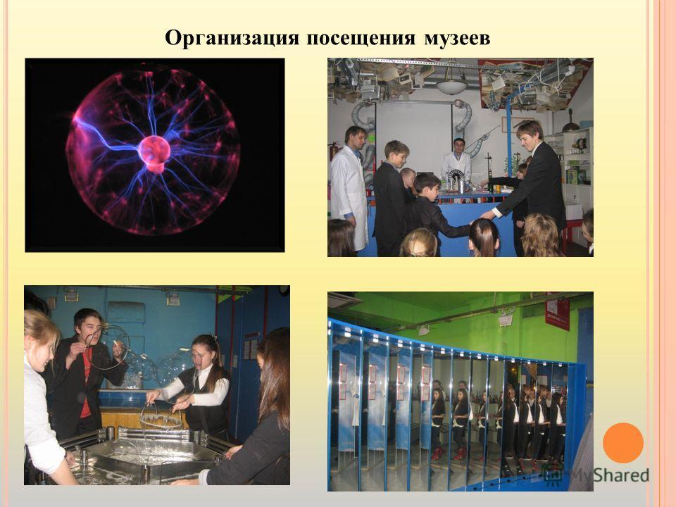 Организация посещения музеев
