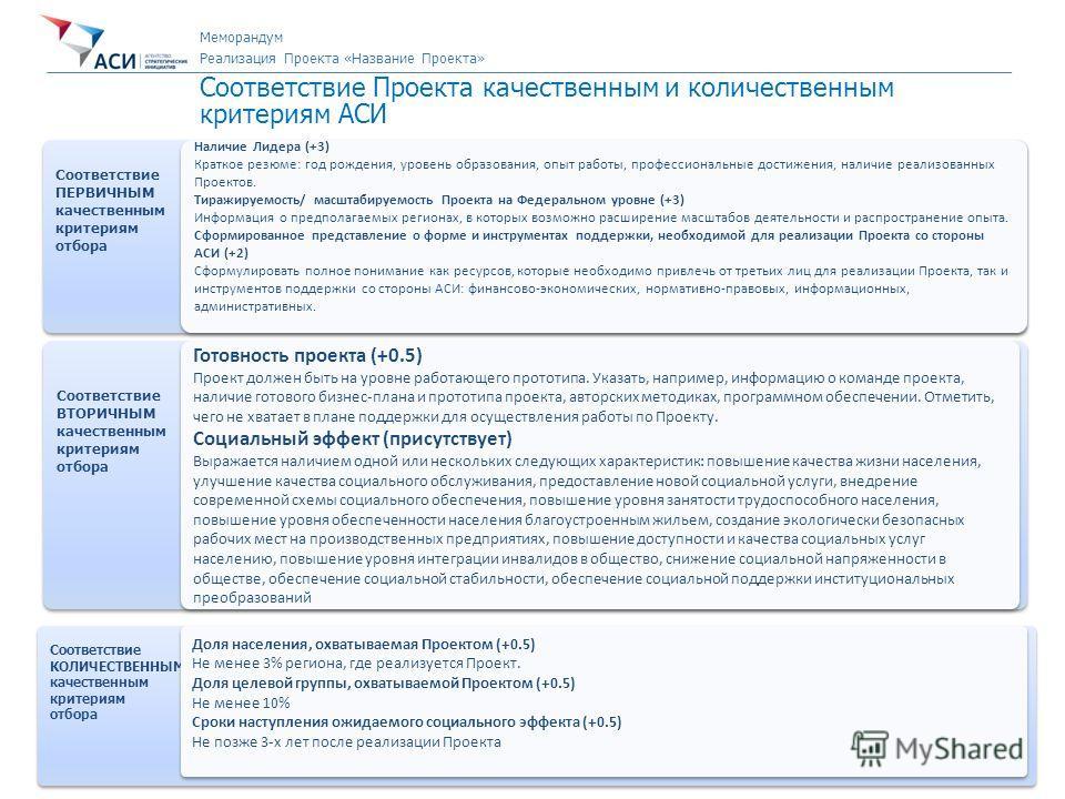 7 Направление «Новый Бизнес» Первичная экспертиза Проекта Соответствие Проекта качественным и количественным критериям АСИ Соответствие ПЕРВИЧНЫМ качественным критериям отбора Соответствие ПЕРВИЧНЫМ качественным критериям отбора Наличие Лидера (+3) К