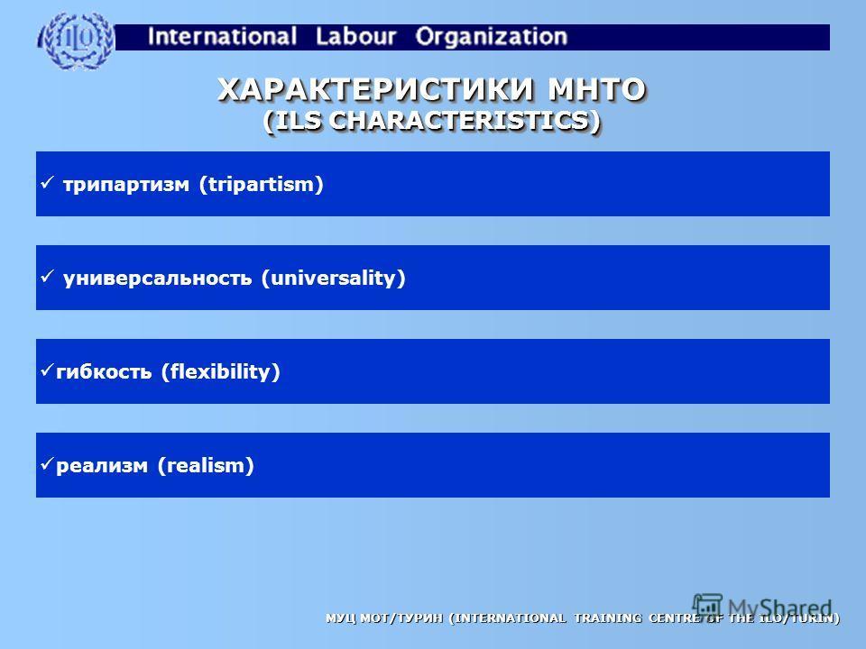 МУЦ МОТ/ТУРИН (INTERNATIONAL TRAINING CENTRE OF THE ILO/TURIN) являются международными соглашениями (are international treaties) после ратификации, являются юридически обязательными (when ratified, are legally binding) если не ратифицированы, могут п
