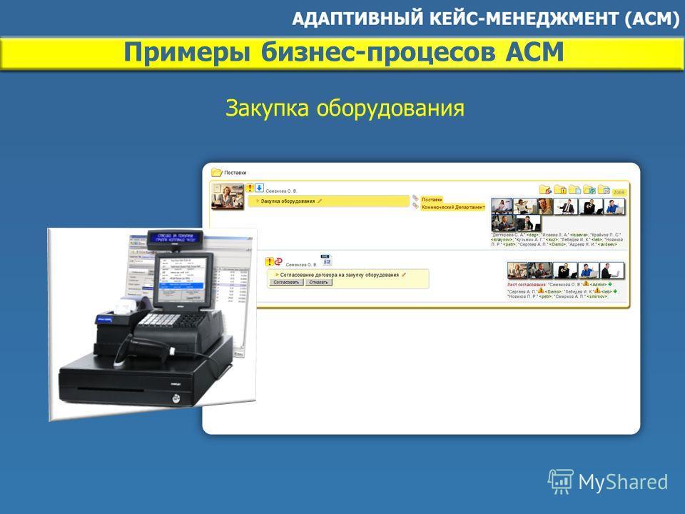 Примеры бизнес-процесов ACM Закупка оборудования