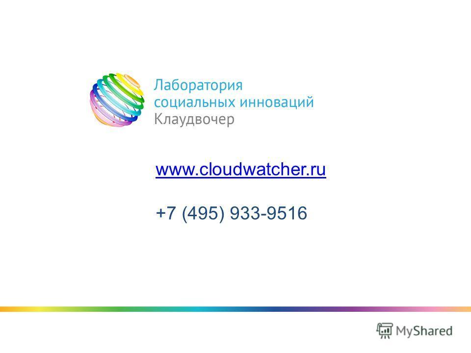 www.cloudwatcher.ru +7 (495) 933-9516