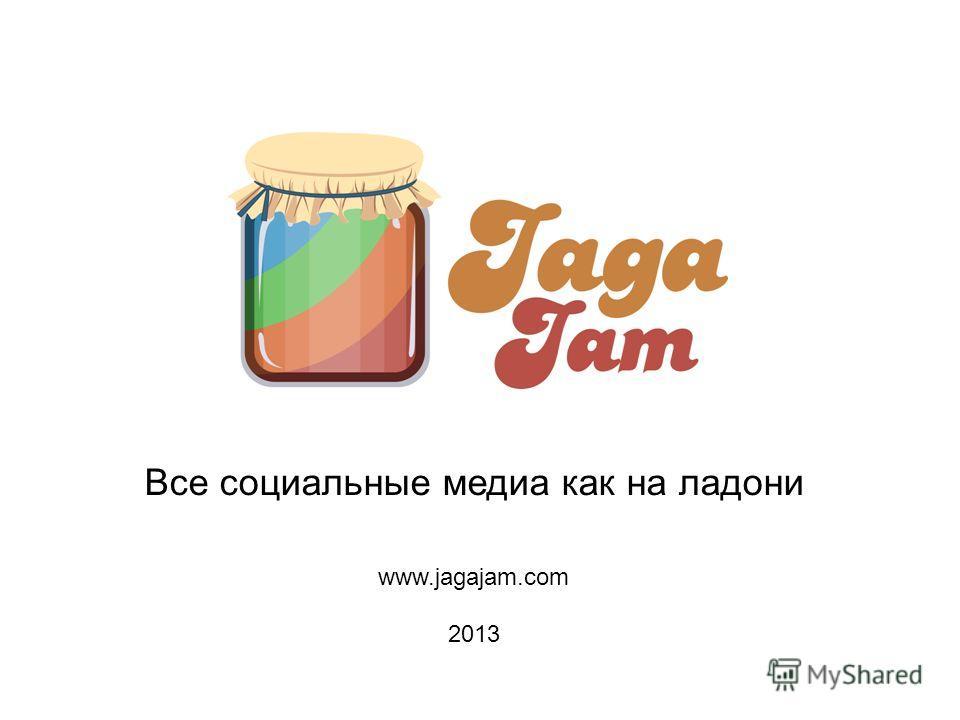 Все социальные медиа как на ладони www.jagajam.com 2013