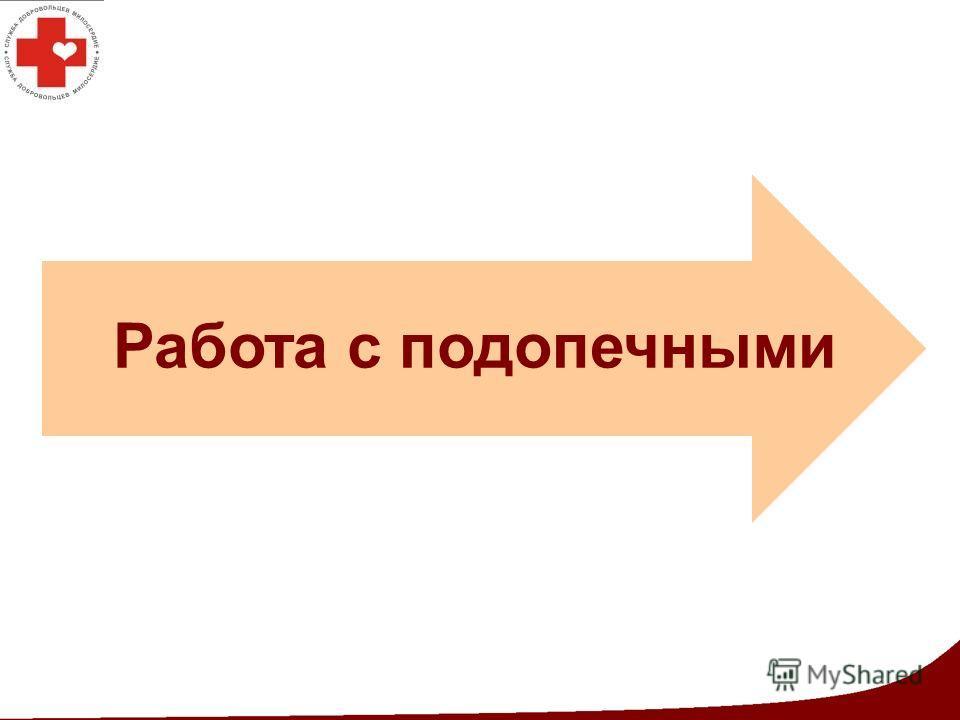 Этап организации Работа с подопечными