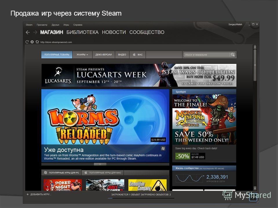 Продажа игр через систему Steam