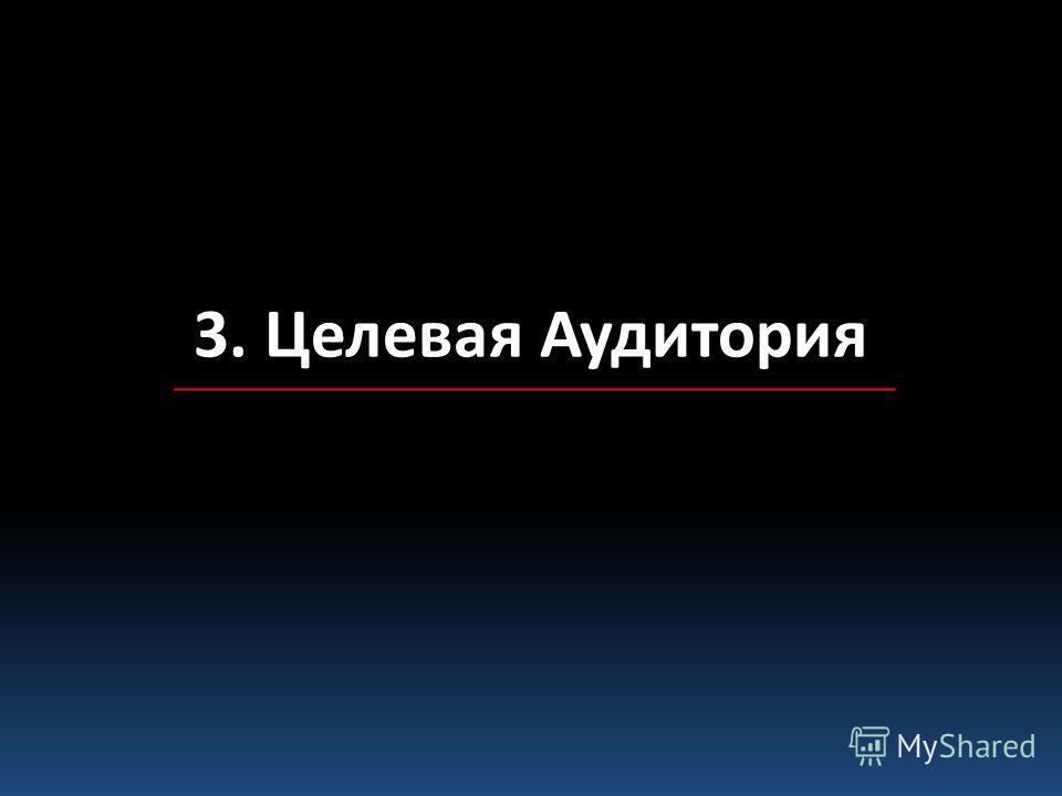3. Целевая Аудитория
