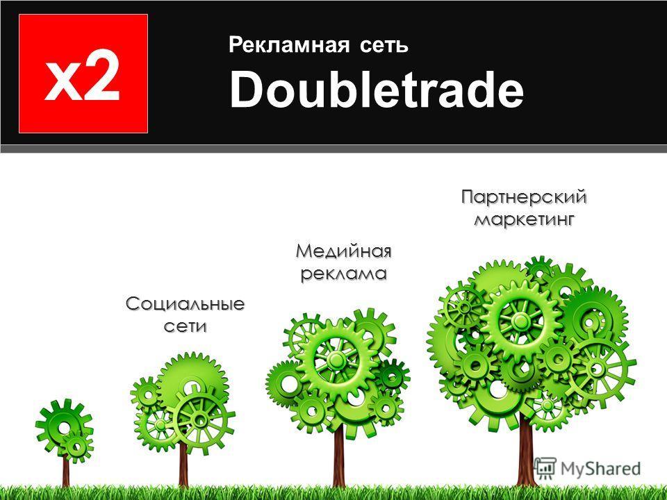 x2 Рекламная сеть Doubletrade Партнерский маркетинг Социальные сети Медийная реклама