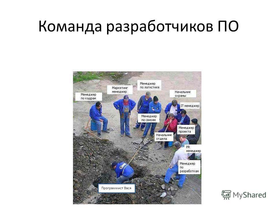 Команда разработчиков ПО Программист Вася
