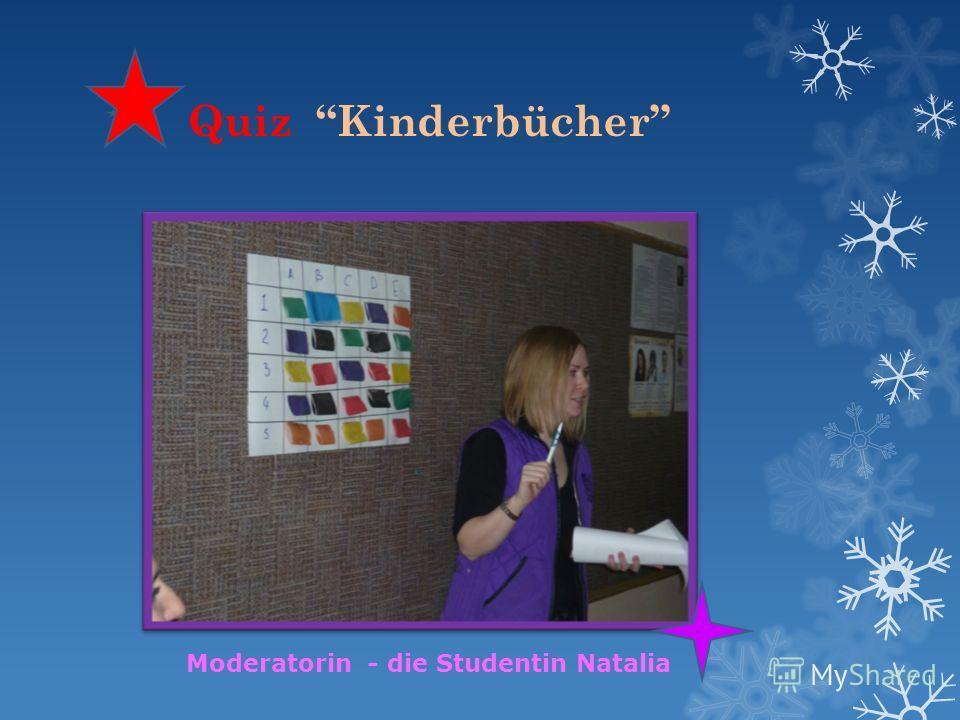 Quiz Kinderbücher Moderatorin - die Studentin Natalia