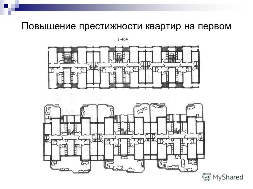 Повышение престижности квартир на первом этаже