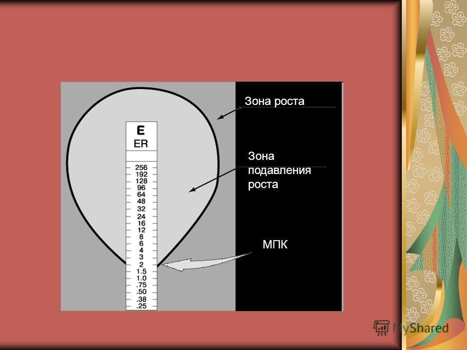 Зона роста Зона подавления роста МПК